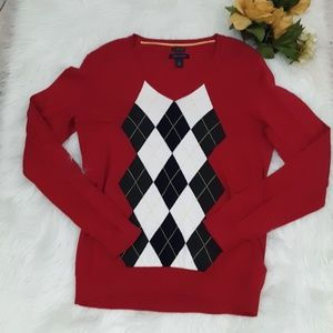 Tommy Hilfiger Argyle Sweater Sz. Large